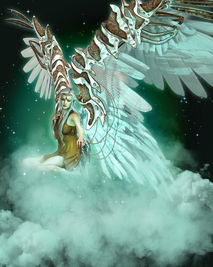 Un ángel libre illustration