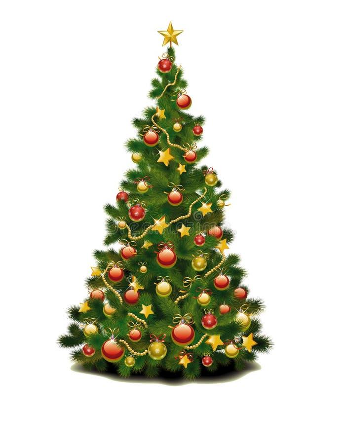 Un árbol de navidad stock de ilustración
