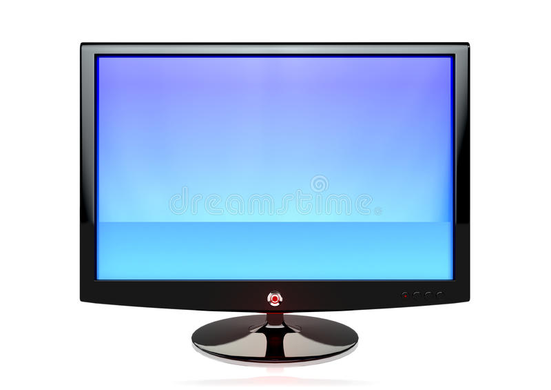 Un écran plat TV images libres de droits