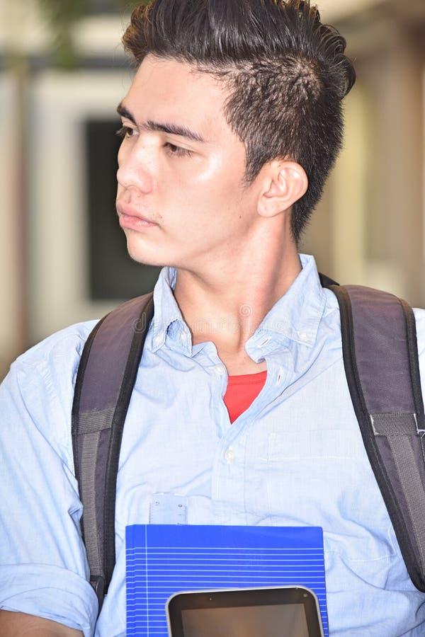 Un élève-garçon sérieux image libre de droits