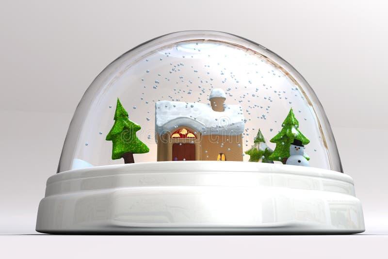 Un 3D rende di uno snowglobe royalty illustrazione gratis