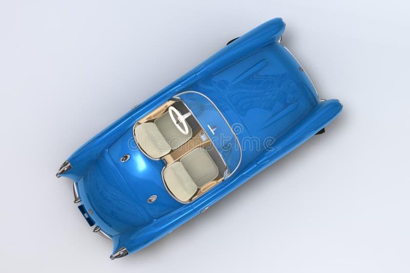 Un 3D rinde de un Chevrolet Corvette 1957 libre illustration
