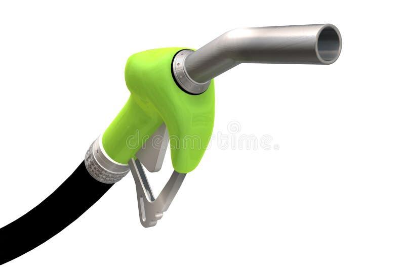 Un 3D rinde de una boquilla de la bomba de gas stock de ilustración