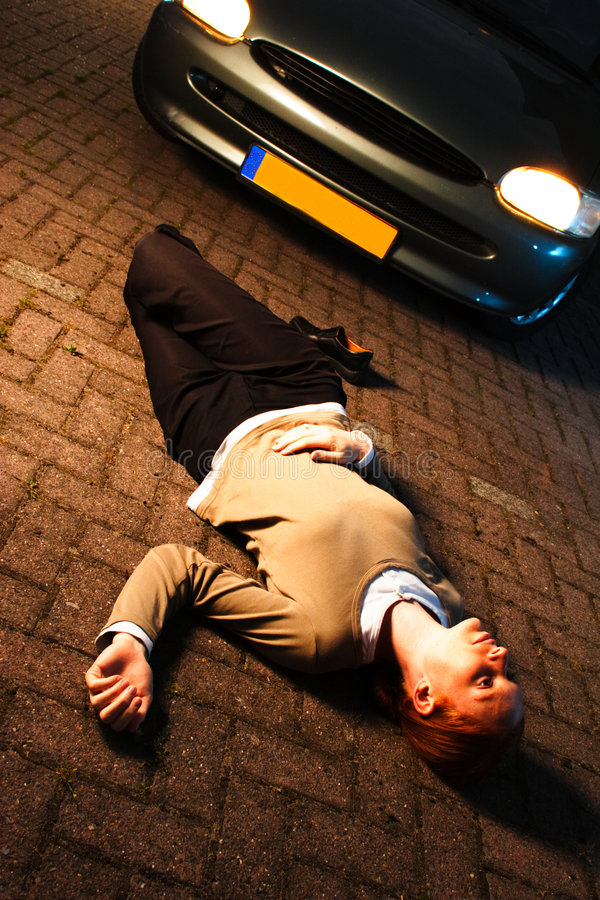 Un accident de véhicule photographie stock libre de droits