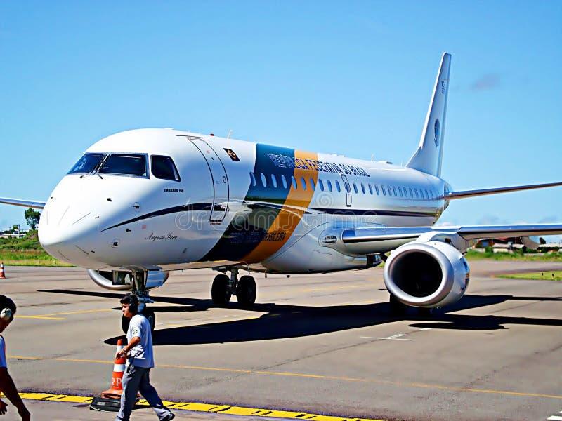 Un aereo brasiliano dell'aeronautica fotografia stock