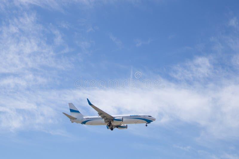 Un aereo dell'aria di introduzione fotografia stock