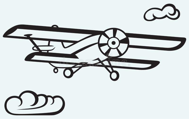 Un aeroplano en el cielo ilustración del vector