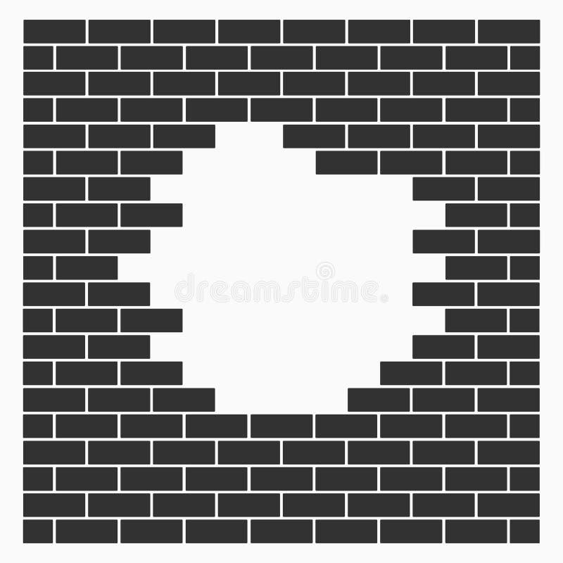 Un agujero en la pared ladrillos icono del vector de la - Agujero en la pared ...