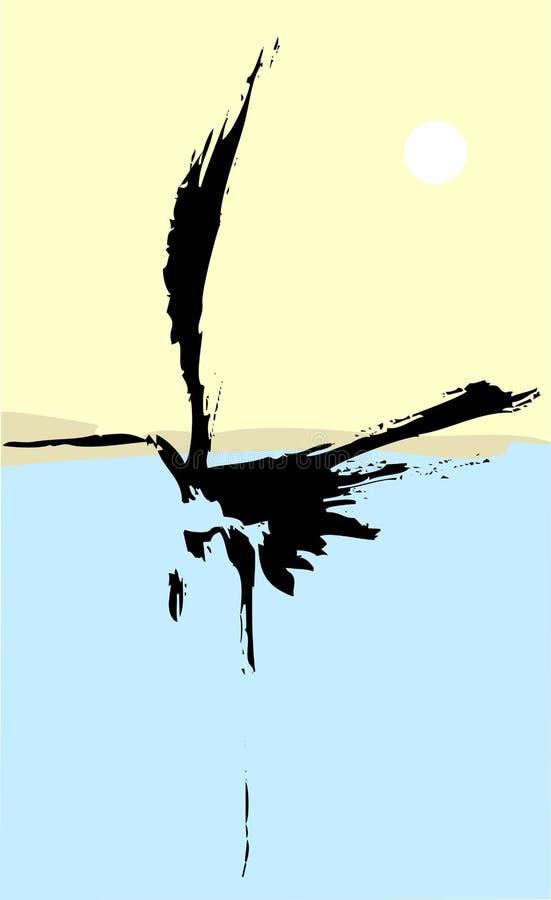 Un airone illustrazione vettoriale