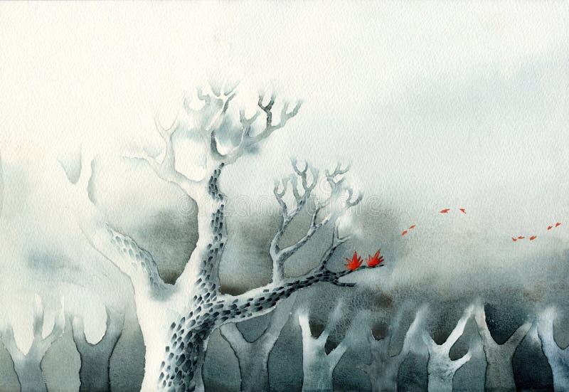 Un albero calvo illustrazione di stock