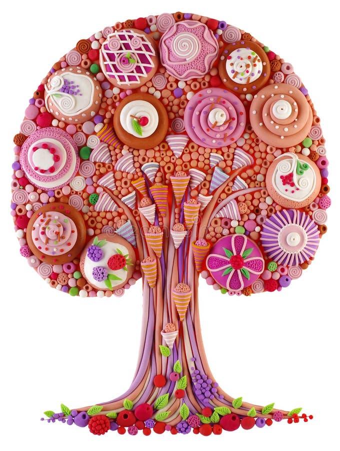 Un albero-dolce fantastico di fantasia fotografie stock