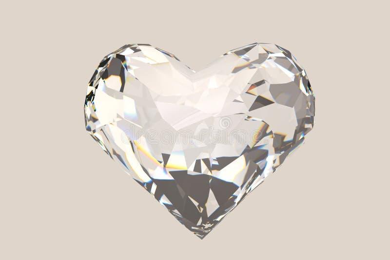 Un'alta qualità 3d del diamante rende include il percorso illustrazione 3D illustrazione di stock