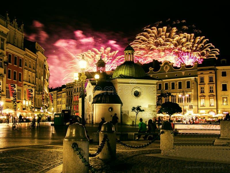Un'altra notte nel ³ w di Krakà immagine stock