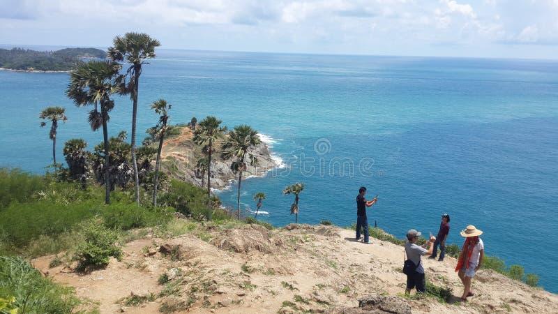 Un'altra vista del capo Phuket di Promthep immagini stock libere da diritti