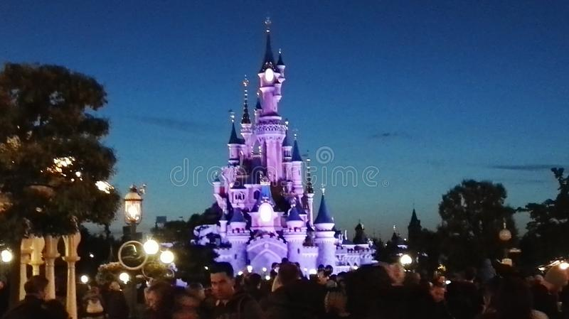 Un altro colore di Disneyland Castel fotografie stock libere da diritti