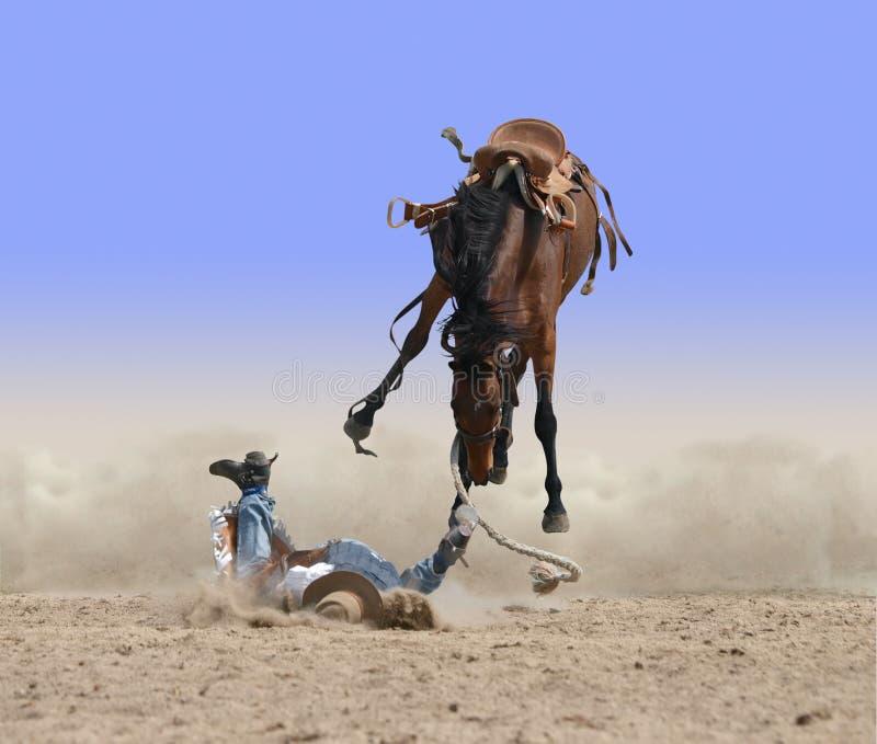 Un altro cowboy morde la polvere fotografia stock libera da diritti