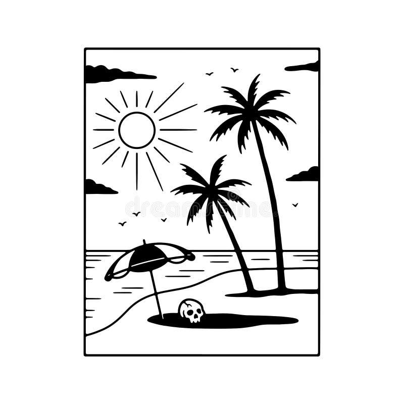 UN ALTRO GIORNO NEL BIANCO DEL NERO DI PARADISE illustrazione di stock