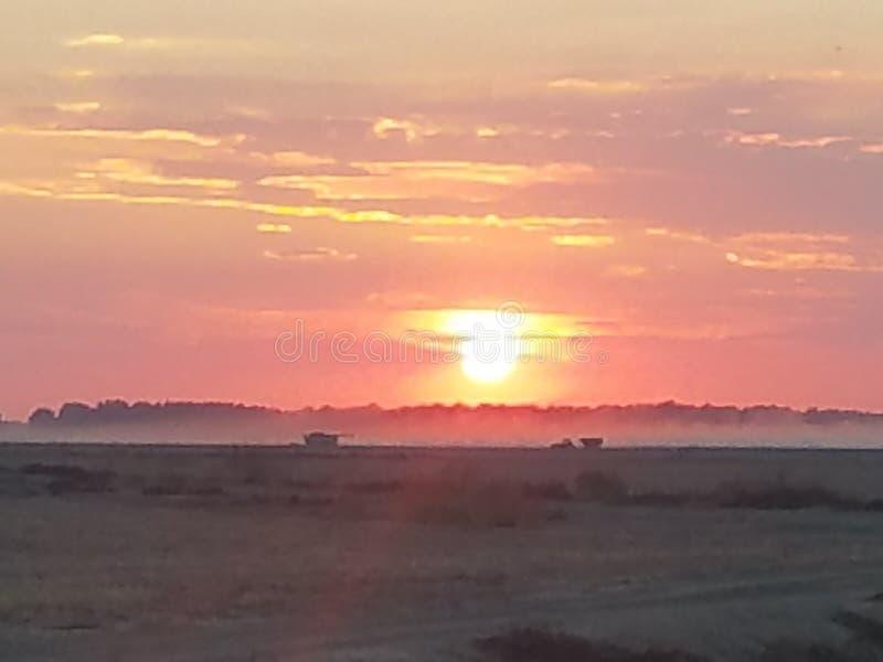 Un altro tramonto di delta fotografia stock