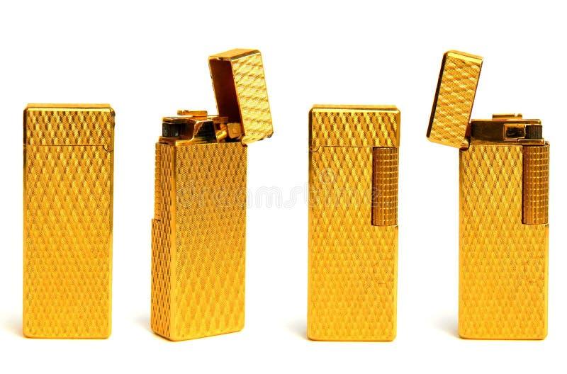 Un alumbrador de oro en cuatro opiniónes fotos de archivo libres de regalías