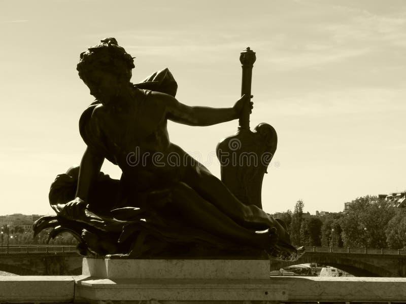 Un amigo del puente de Alexander 3 en París imagen de archivo libre de regalías