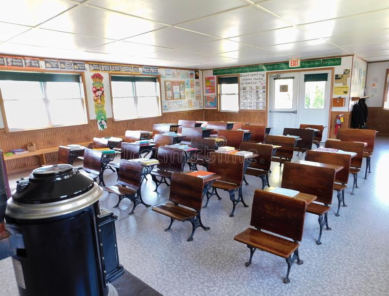 Un Amish una scuola della stanza fotografia stock