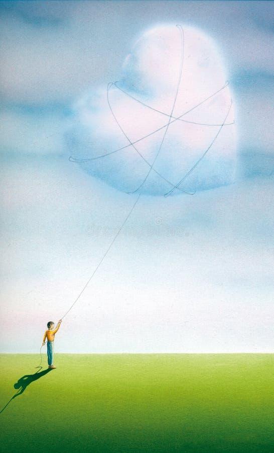 Un amor del verano stock de ilustración