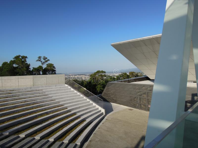 Un amphithéâtre extérieur dans le classique et le style cultivé photo stock