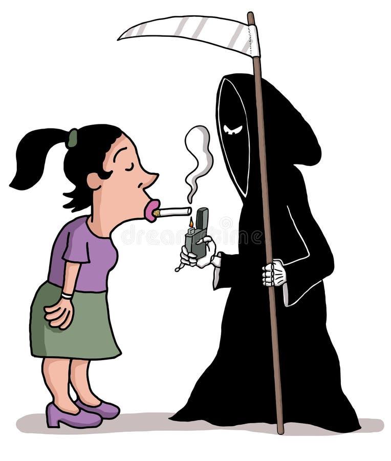Flirt avec la mort illustration stock