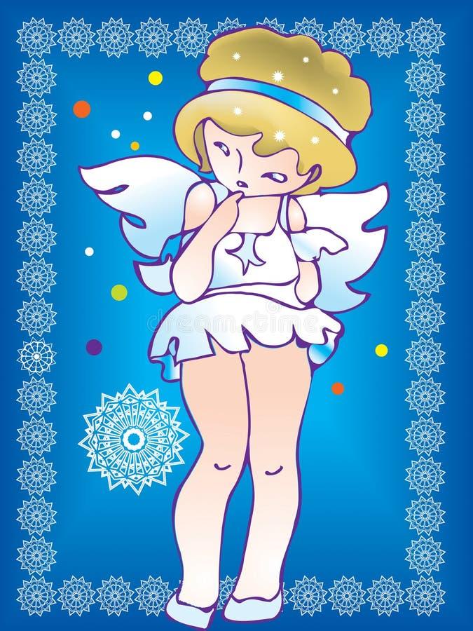 Un angelo timido illustrazione di stock
