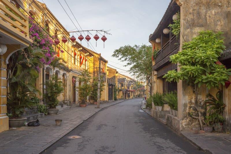 Un angolo di vecchia città di Hoi An fotografia stock