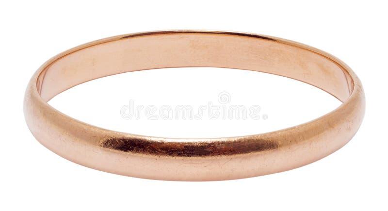 Un anillo de bodas del oro aislado imágenes de archivo libres de regalías