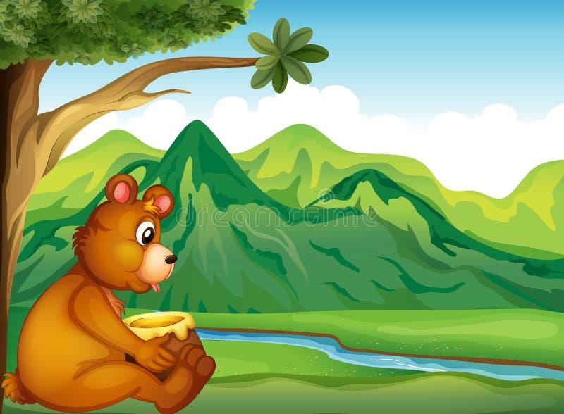 Un animal observant la rivière illustration libre de droits