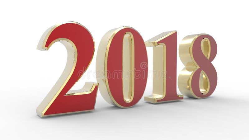 Un anno di 2018 illustrazione di stock