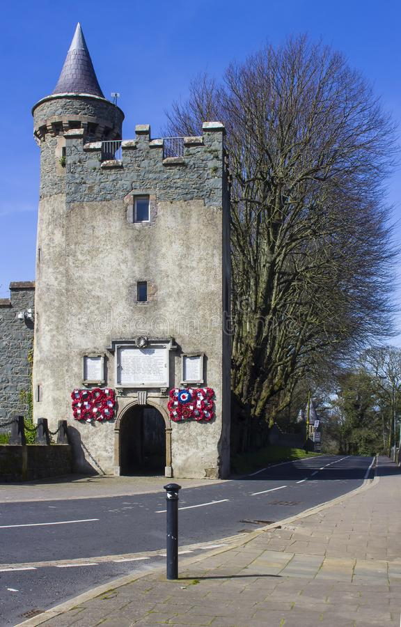 Un antico tiene al castello di Killyleagh in Irlanda del Nord fotografie stock