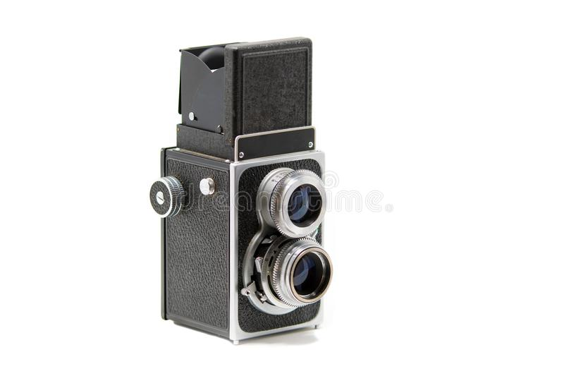 Un appareil-photo réflexe de lentille jumelle classique image libre de droits