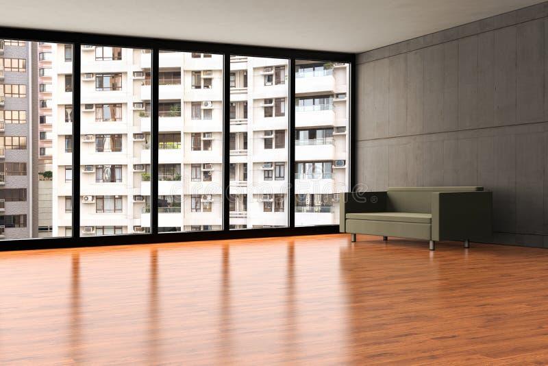 Un appartement vide avec la vue serrée illustration de vecteur