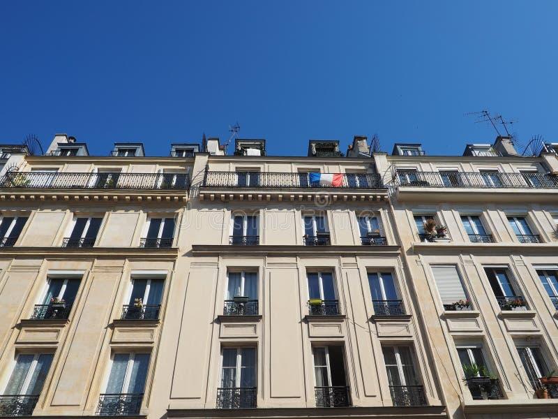 Un appui français d'expositions de drapeau à l'équipe de football nationale photos stock