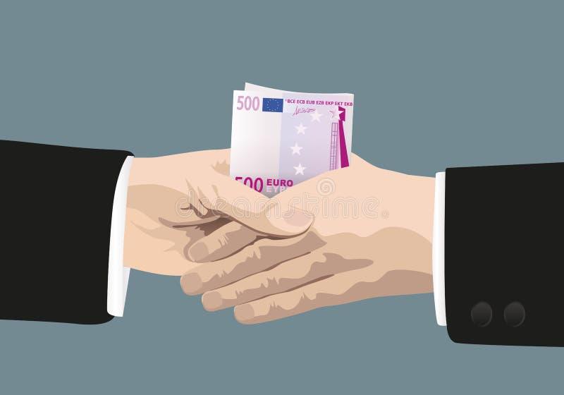 Un apretón de manos que muestra a la corrupción del hombres de negocios de la mafia libre illustration