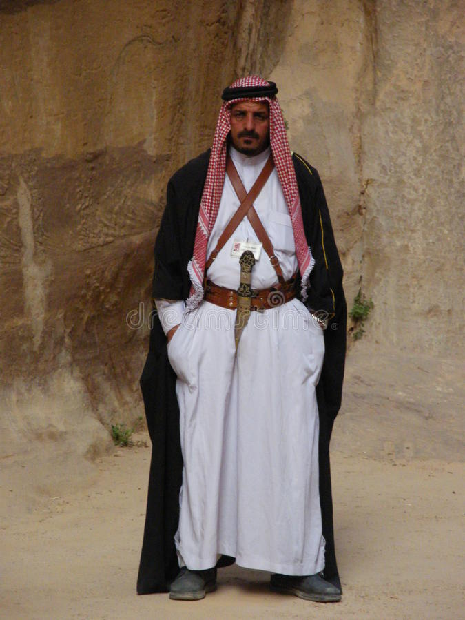 Un Arabe jordanien image stock