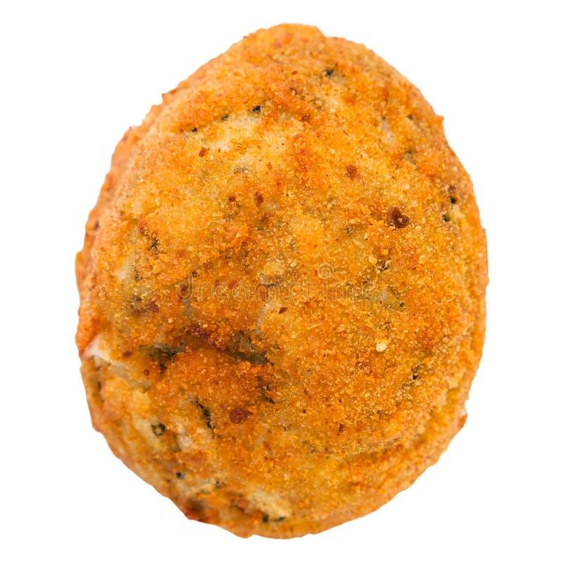 Un arancini farcito verdura della palla di riso isolato immagini stock
