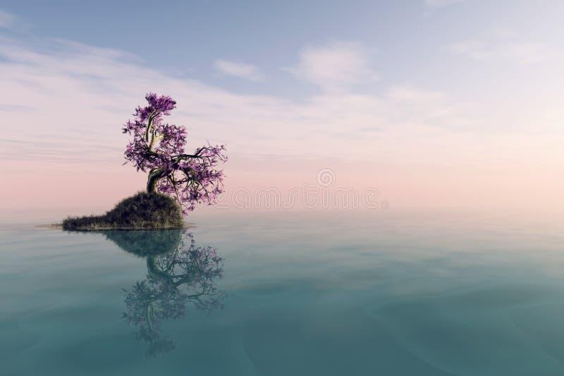 Un arbre isolé illustration libre de droits