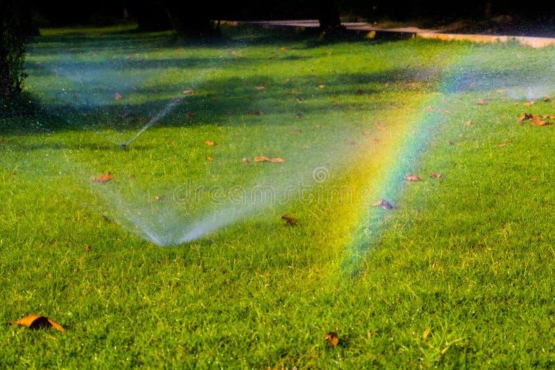 Un arcobaleno inatteso compare! fotografia stock