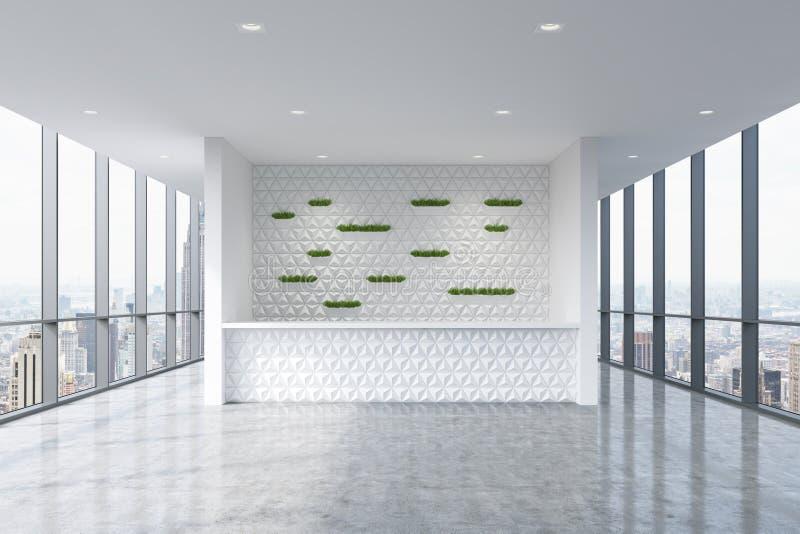 Un 39 area reception in un interno pulito luminoso moderno - Finestre panoramiche ...