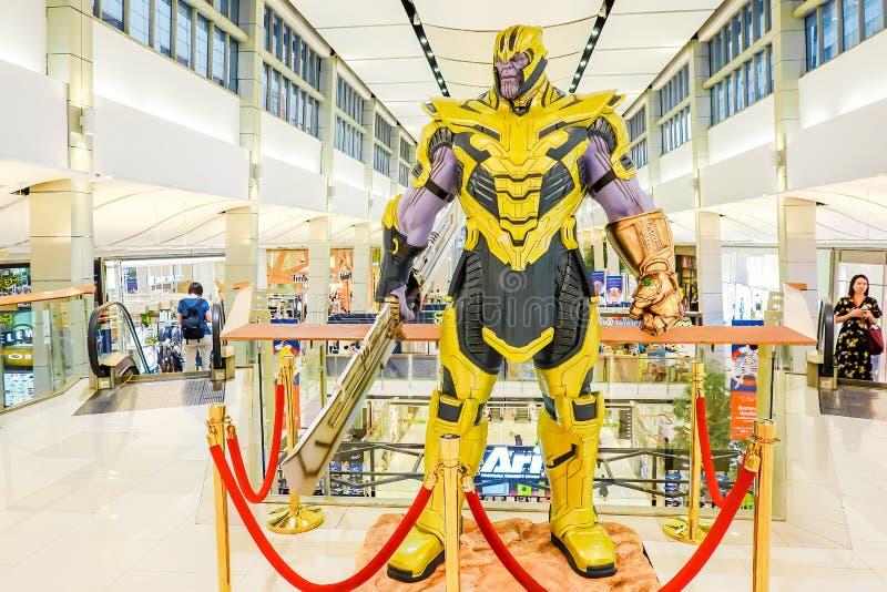 Un arrangement du nombre d'actions de Thanos Portrait des vengeurs s'émerveillent comique image stock
