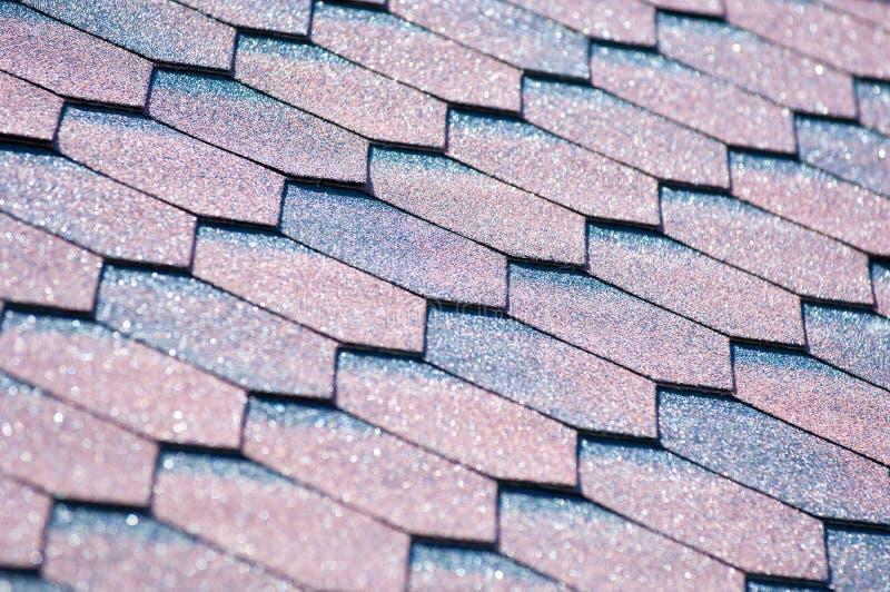 Un'assicella dell'asfalto è un tipo di assicella del tetto o della parete che usa la a fotografie stock