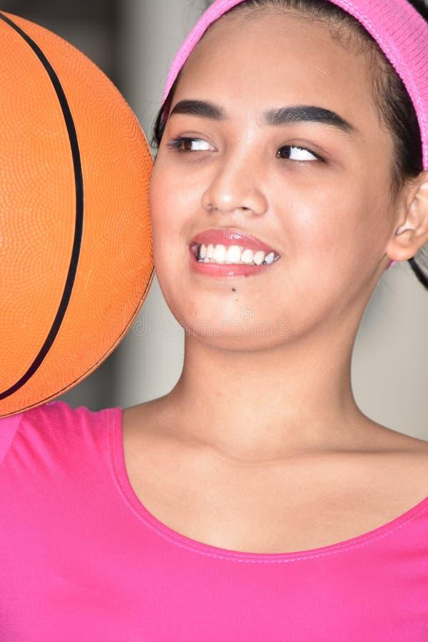 Un atleta de sexo femenino feliz imagen de archivo