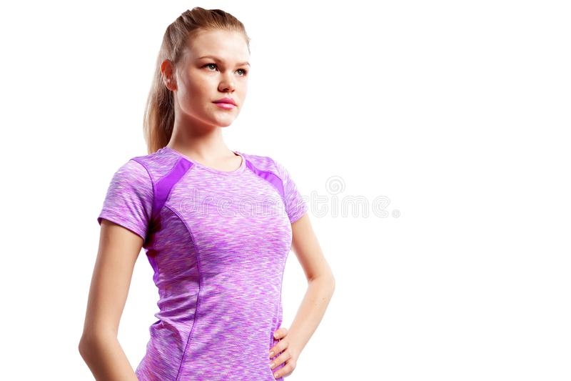 Un atleta delgado joven de la mujer imagen de archivo