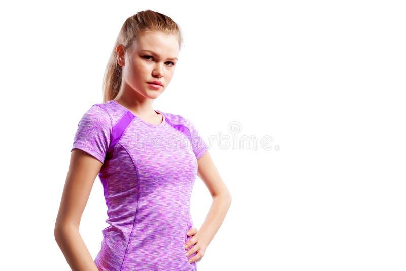 Un atleta delgado joven de la mujer imagen de archivo libre de regalías