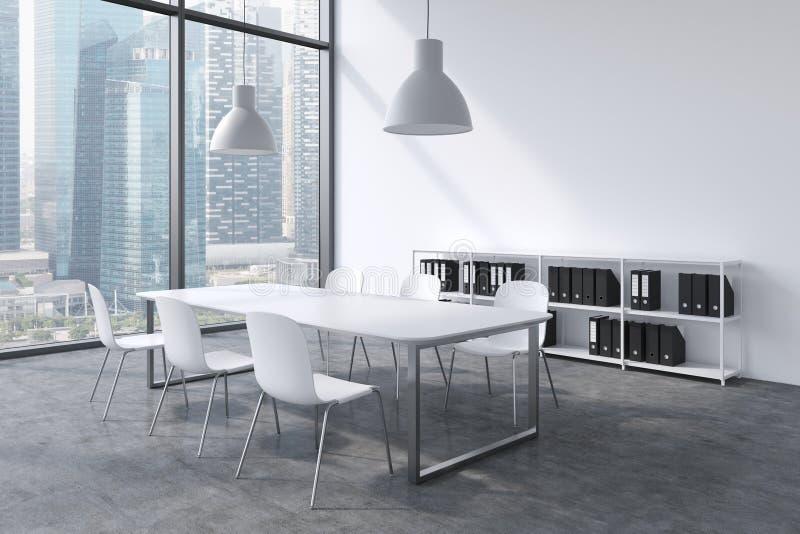 Sedie Ufficio Bianche : Un auditorium in un ufficio panoramico moderno con la vista di