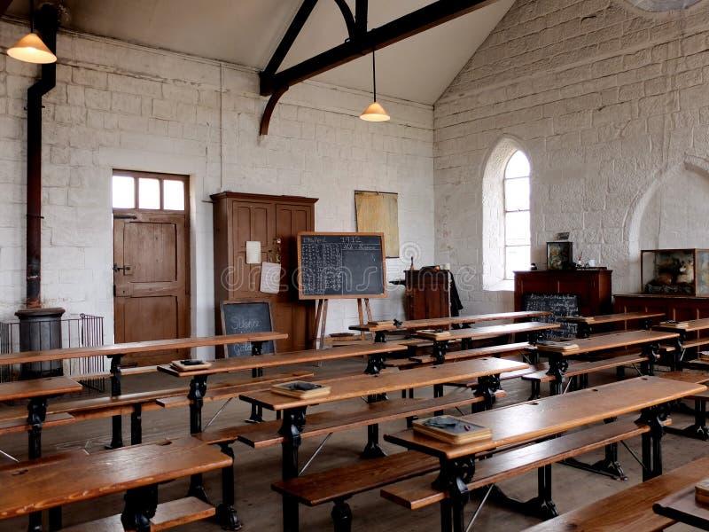 Un'aula scolastica vittoriana, Regno Unito fotografie stock libere da diritti